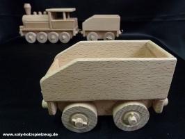 Kohlenwagen zum Lokomotive
