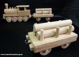 Wagon zum Lok, Holzspielzeug