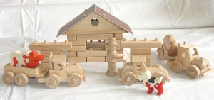 Tankstellen II. - Holz-didaktische Bausatz