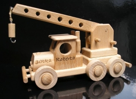 Autokran Holzspielzeug Geschenke