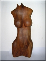 Female Akt aus Holz - Walnussbaum