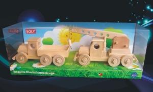 Holz-LKW mit Wagenkasten + Autokran