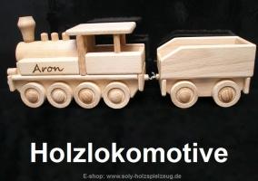 Lokomotive aus Holz - Spielzeug
