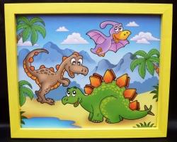Bilder für's Kinderzimmer - Dinosauriern prahistorischen Tier