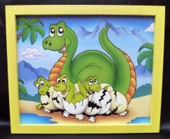Bilder für's Kinderzimmer - Africa Brontosaurs