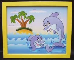 Bilder für's Kinderzimmer - Delphin