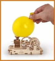 3D Dampfmotor Holz Puzzle mechanischer Baukasten