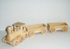 Kinder Spielzeug Holz-zug mit zwei Lastanhänger