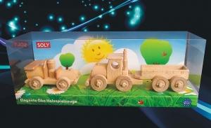 Truck Holzcamion und kleine Auto