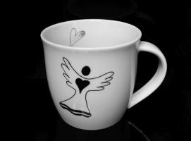 Tasse 0,3 l Becher Porzellan Engel