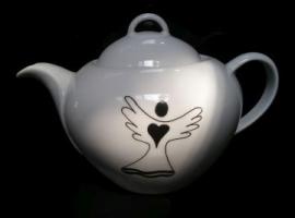 Teekanne  Porzellan 1,2 Liter mit Engel