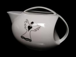 Teekanne Schutzengel  1 Liter aus Porzellan