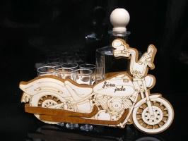 Geschenke für Motorradfahrer Motorrad, Biker mit Flasche 6x Glas