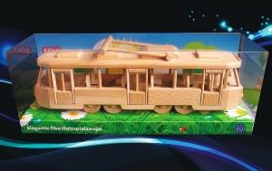 Moderne Holz Straßenbahn TATRA für Kinder.