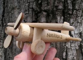 Kleine Flugzeug Ben Spielzeug aus Holz