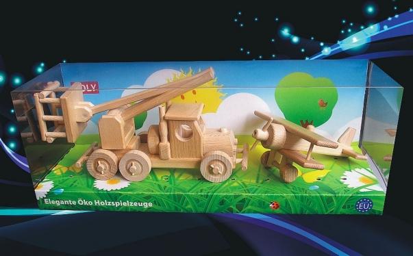 Klein Flugzeug + Wagenplattform Spielzeug