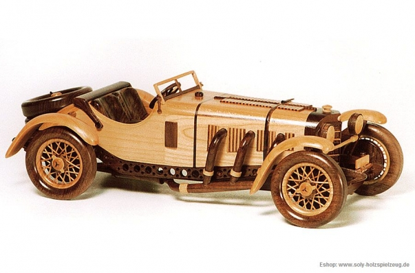 Mercedes Benz SSKL SPORT (1931) Modell aus Holz