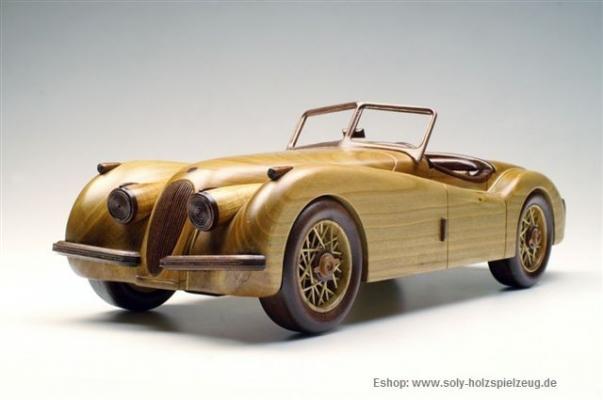 Jaguar SS 100 Modelle aus Holz