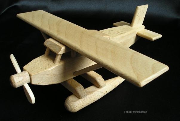 Wasserflugzeug holzspielzeug