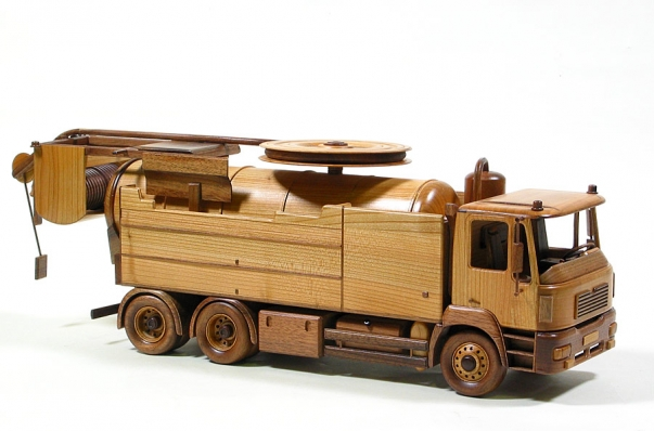 Saugwagen 100% holz modelle WIEDEMAN-REICHHARD-SUPER-2000-Man