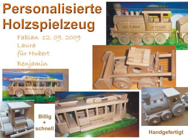 1 - 20 Buchstaben. Personalisierte Geschenke - Holzspielzeug