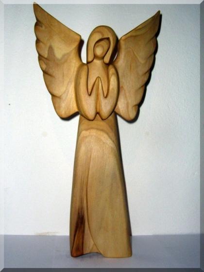 Engel betend - Holzfiguren, 24 cm