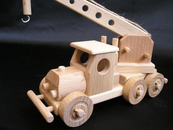 Autokran Holzspielzeug