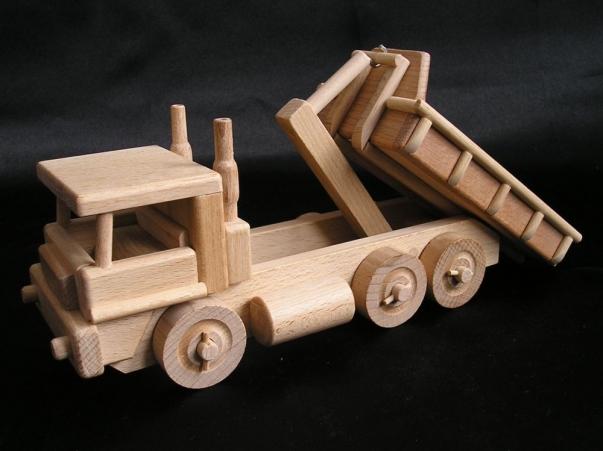 LKW Kipper Spielzeug aus Holz