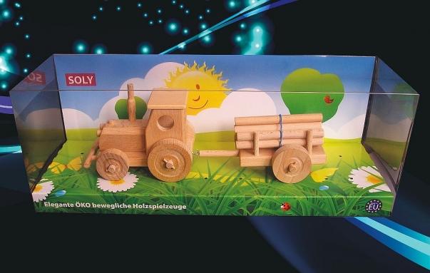 Waldtraktor mit Anhänger Spielzeug