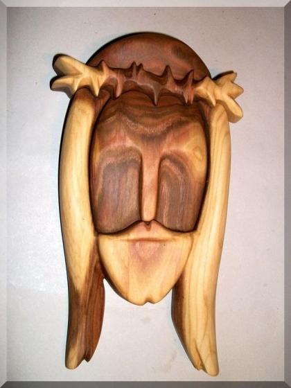 Jesus Figur aus Holz