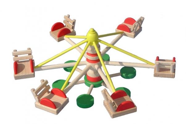 Karusell aus Holz für Puppenstuben Püppchen