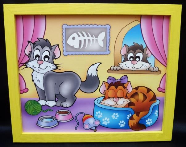 Bilder für's Kinderzimmer - Miezekatze