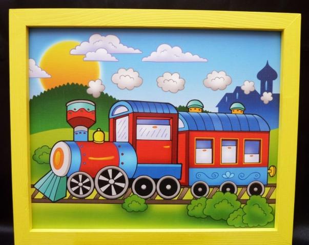 Bilder für's Kinderzimmer - Zug