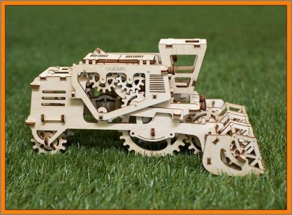 3D Puzzle Holzpuzzle MÄHDRESCHER Baukasten Geschenkidee Modellbau