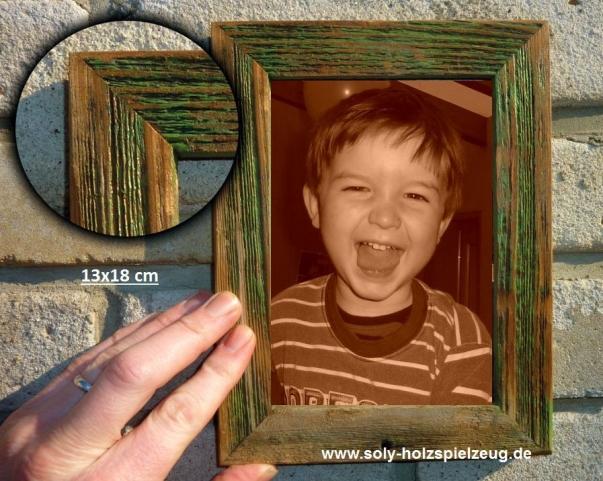 13x18 cm Fotorahmen aus Holz, grün