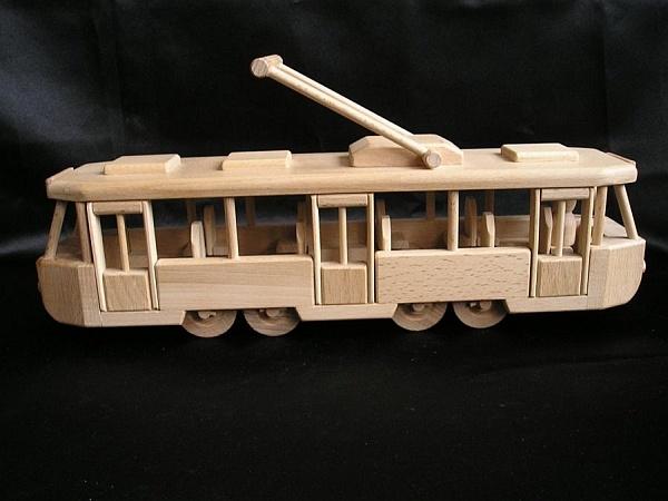 Moderne Straßenbahn Spielzeug