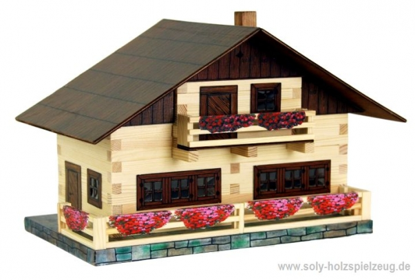 Alpenhaus Baukasten holz Model