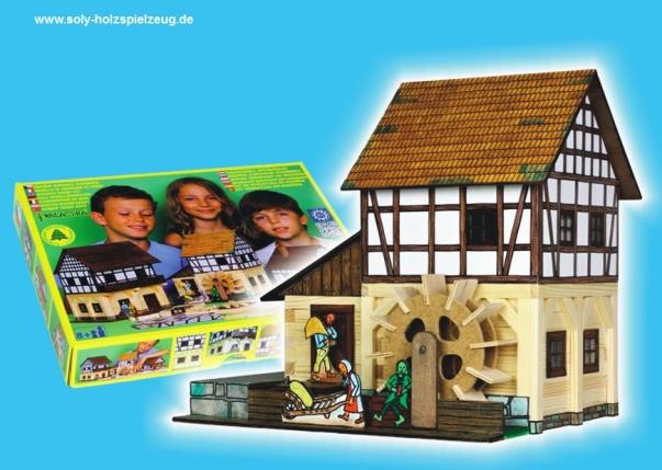 Wassermühle Modellbauset aus Holz