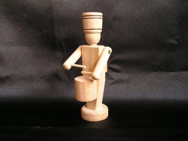 Hölzerner Soldat, Schlagzeuger, Spielzeug, Dekoration, Andenken