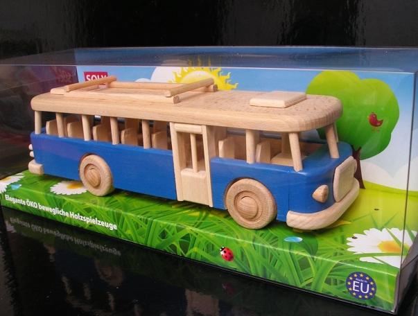 Kinder blue Bus aus holz, Spielzeug