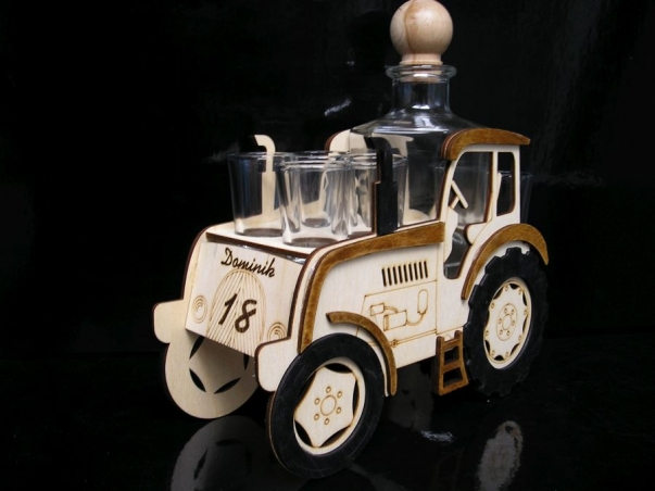 Geschenke Traktor Geschenkflasche