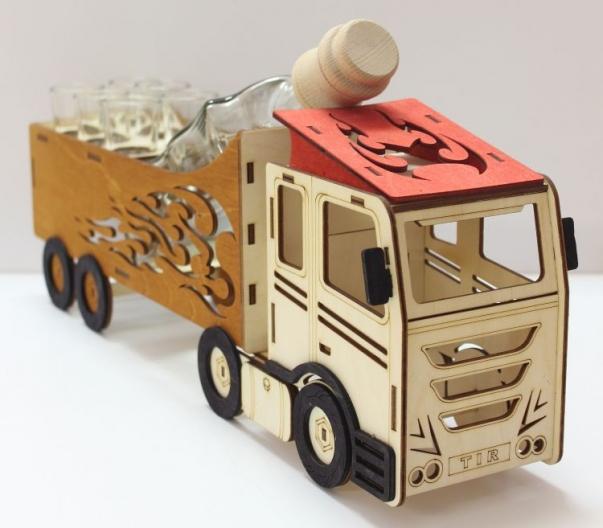 Geschenk für Truck LKW-Fahrer Geburtstags Flasche