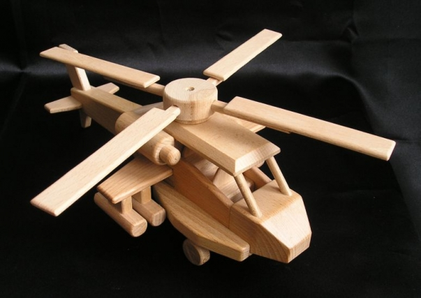 Holz Hellikopter Apache Spielzeug