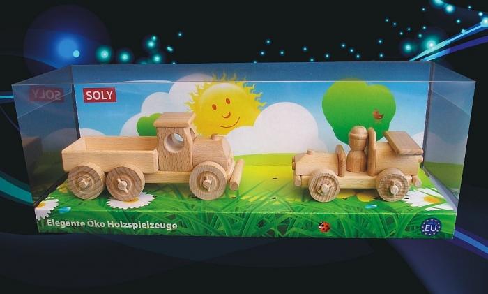 Holz-lkw + holzauto