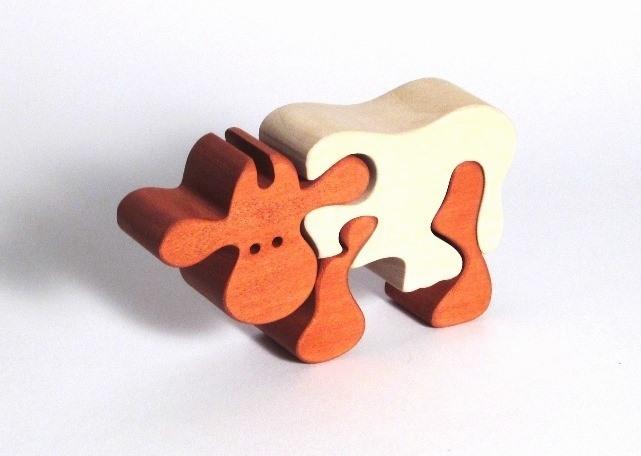 Holzspielzeug puzzle Schafe