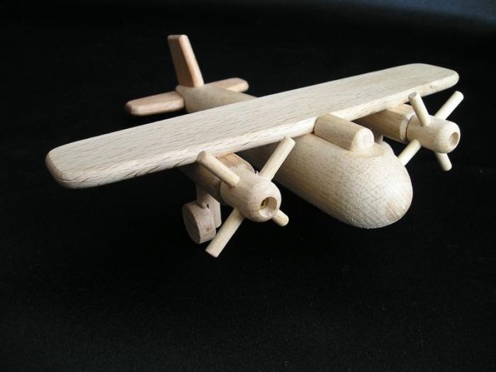 Flugzeug Holzspielzeug