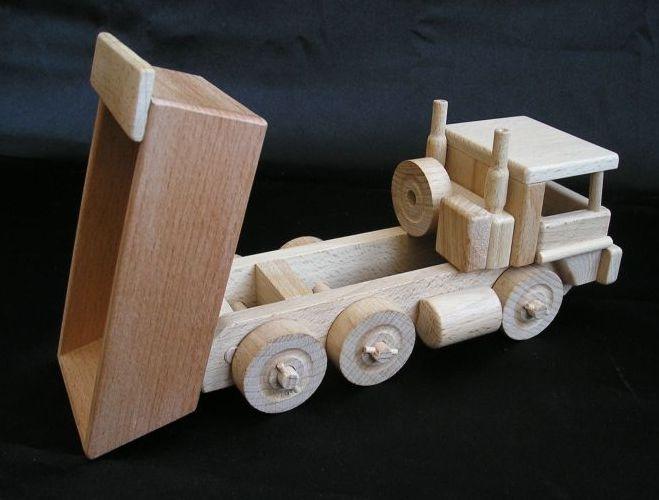 Holz lkw kipper ii spielzeug geschenke holzspielzeug für