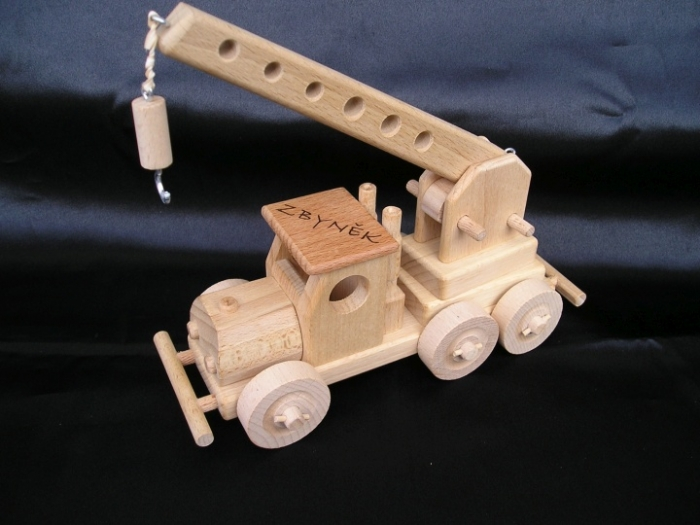 Krane Spielzeug aus Holz mit Gravur Name