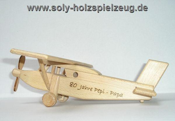 Pilatus Holz Flugzeug Spielzeug