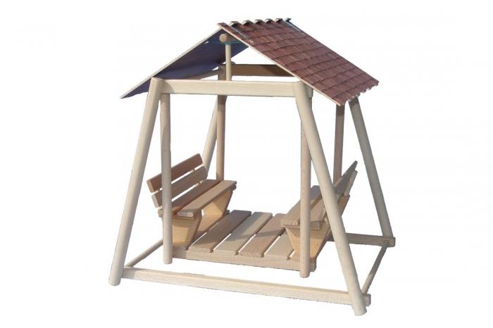Doppelschaukel Holzspielzeug